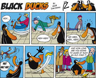 remsa för episod för 6 svart komikeränder Royaltyfria Foton