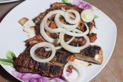 remsa för steaks för steak för stöd för delmonicogallerfransyska Arkivfoton
