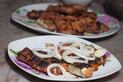remsa för steaks för steak för stöd för delmonicogallerfransyska Royaltyfri Bild