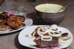 remsa för steaks för steak för stöd för delmonicogallerfransyska Royaltyfri Foto