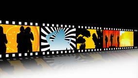 Remsa för underhållningfilmfilm stock illustrationer