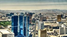 Remsan av Las Vegas - hotellAereal sikt royaltyfri foto