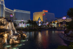 Remsan på natten i Las Vegas, NV på Juni 05, 2013 Arkivfoto