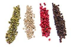 Remsor av blandade peppar Royaltyfria Foton