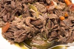 Remsor av kött Arkivbild