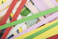 Remsor av kulört papper Arkivbilder