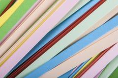 Remsor av kulört papper Fotografering för Bildbyråer