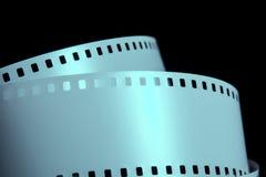 Remsor av remsan för negativ film på en mörk bakgrund Royaltyfri Bild