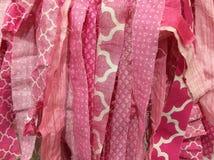 Remsor av rosa kläder Royaltyfri Fotografi