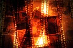 remsor för filmnegative arkivbild