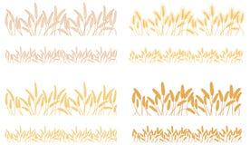 Remsor som vinkar öron av sädesslagväxter Royaltyfria Bilder
