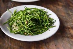Remuez Fried Vegetables, nourriture saine, foyer sélectif photo stock