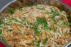 Remuez le style oriental thaïlandais de nouille de riz frit photos libres de droits