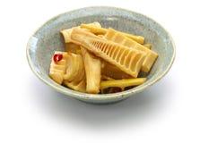 Remuez les pousses de bambou frites de Madake photo libre de droits