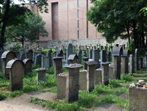 The Remuh  - Jewish Cemetery in Krakow, Royalty Free Stock Images