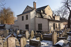 Remuh Synagogue - Krakow - Poland. The old Jewish Remuh cemetery and synagogue in the Kazimierz district in the city of Krakow in Poland Royalty Free Stock Image