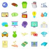 Remuneration icons set, cartoon style. Remuneration icons set. Cartoon set of 25 remuneration vector icons for web isolated on white background Royalty Free Stock Photo