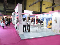 Remy laure exhibition stall. This is photo of exhibition stall of Remy Laure company venue is Bombay Exhibition Centre,Mumbai Date is 6th October 2015 royalty free stock photos