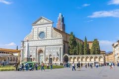 renässans santa för basilicafacadeflorence italy maria novella Arkivfoto