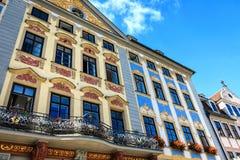 Renässansstadshus i Coburg, Tyskland Fotografering för Bildbyråer