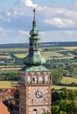 Renässanstorn av kyrkaSt Vaclav arkivbilder