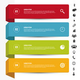 Ren banermall för design Infographics vektor med symboler Royaltyfri Fotografi