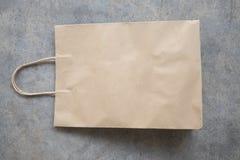 Ren brun kraft pappers- påse arkivfoton