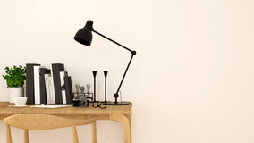 Ren design-3D tolkning för Workspace Arkivfoton