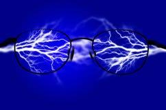 Ren energi och elektricitet som symboliserar makt Arkivbilder