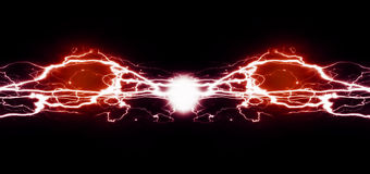 Ren energi och elektricitet som symboliserar makt Arkivfoto