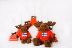 ren för finlandssvensk la för christmass traditionell röd Arkivbild