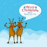 Ren für Weihnachts- und des neuen Jahresfeier vektor abbildung