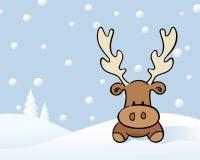 Ren i snowen royaltyfri illustrationer