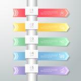 Ren infographic mall för design kan användas för workflowen, orienteringen, diagram Arkivbilder