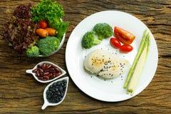 Ren mat Ren bakgrund för mat för matfrukostrengöring Rengöring f Arkivfoton