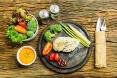 Ren mat Ren bakgrund för mat för matfrukostrengöring Rengöring f Arkivfoto