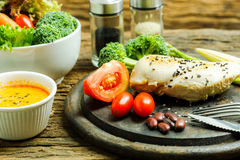 Ren mat Ren bakgrund för mat för matfrukostrengöring Rengöring f Royaltyfri Foto