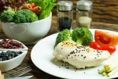 Ren mat Ren bakgrund för mat för matfrukostrengöring Rengöring f Arkivbild
