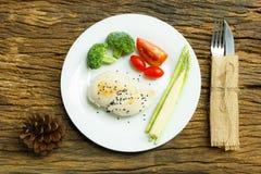 Ren mat Ren bakgrund för mat för matfrukostrengöring Rengöring f Royaltyfria Foton