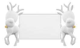 Ren med whiteboard Arkivbild