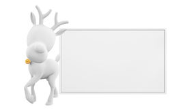 Ren med whiteboard Arkivfoton