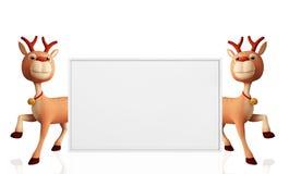 Ren med whiteboard Arkivfoto