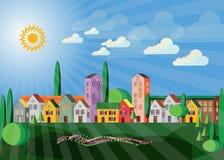 Ren miljö - townscape Arkivbilder