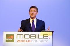 René Obermann at MWC 2012 Royalty Free Stock Photos