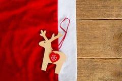 Ren på Santa& x27; s-hatt Arkivbilder