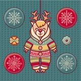 ren Satz Farbeweihnachtsspielwaren Stockfoto