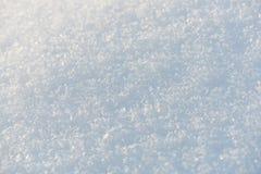 Ren snövit snöbakgrund Royaltyfria Foton