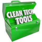 Ren Tech bearbetar för maktenergi för Toolbox förnybara resurser Arkivbild