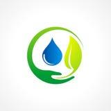 Ren vattenlogo för Bio blad Royaltyfri Bild