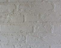 Ren vit textur för modell för bakgrund för stentegelstenvägg arkivfoto